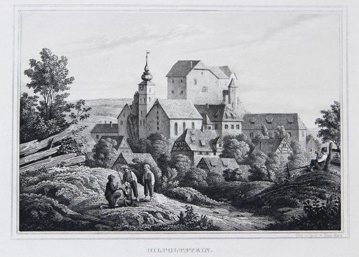 Hiltpoltstein um 1860 von Alex Marx - Quelle Wikiwand