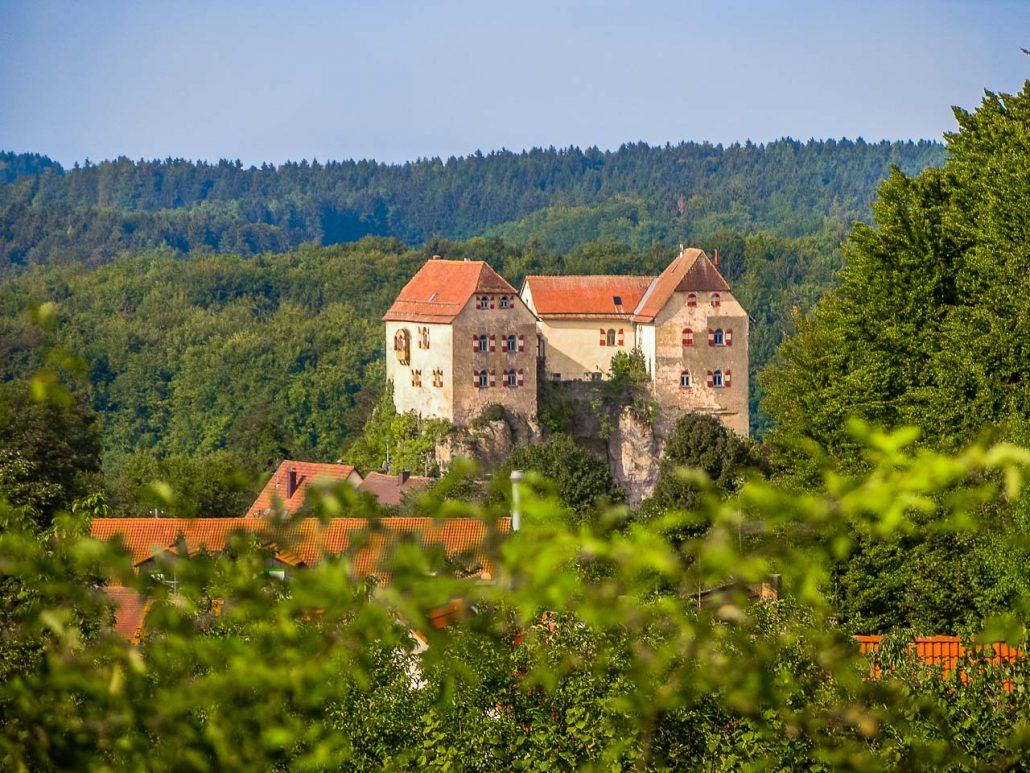 Burg Hiltpoltstein aus Nordost - PM