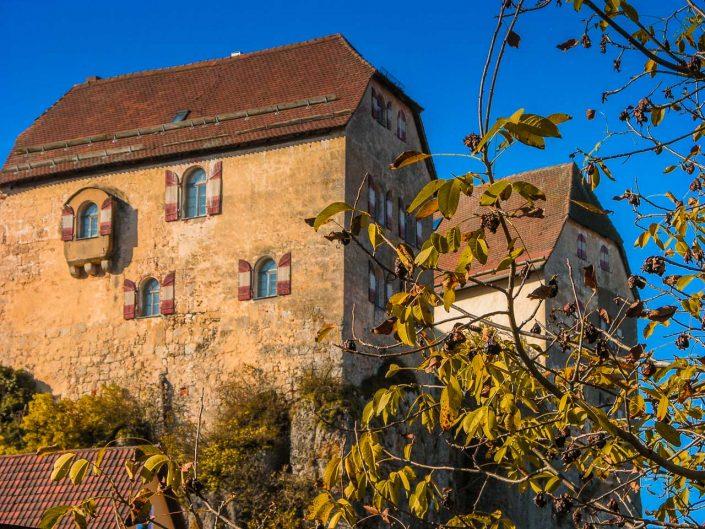 Hiltpoltstein - Burg in der Morgensonne - PM