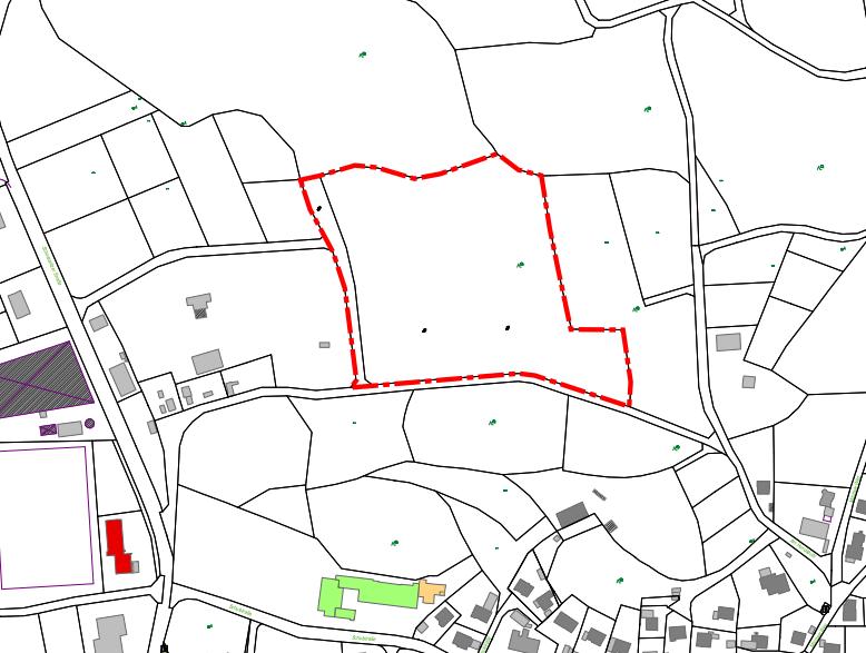 Lageplan An der Hecke, 2. Erweiterung